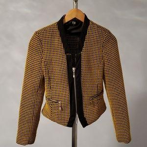 Black and yellow blazer